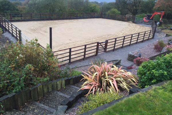 manege sand layer