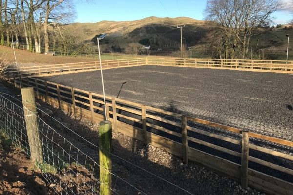 40m x20m rubber chip in Ponterwyd2