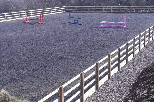 riding arena chipped rubber West Wales Equi Arenas