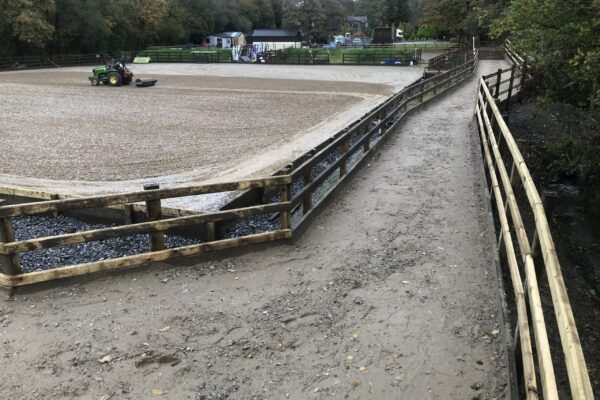 Equi Arenas constructed outer track around manege